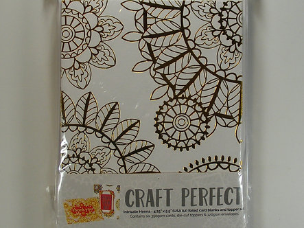 Tonic Studios - Foiled Card Blanks - Intricate Henna Set (Gold)