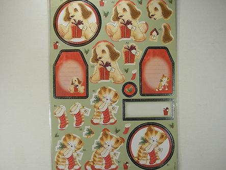 Anita's Christmas Foiled Decoupage - A Gift For You.