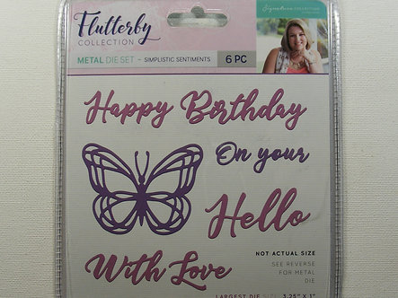 Crafters Companion - Flutterby Collection - Simplistic Sentiments