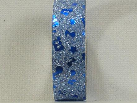 Craft Washi Tape - Blue Music Notes Design.