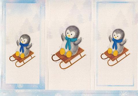 Kanban - Christmas Penguins Toppers