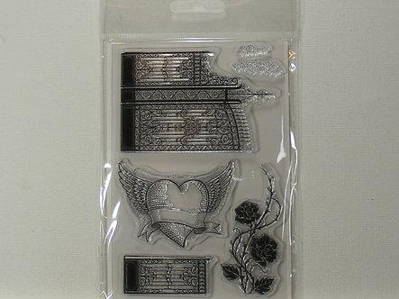 Kanban - Heavenly Ornate Clear Stamp Set