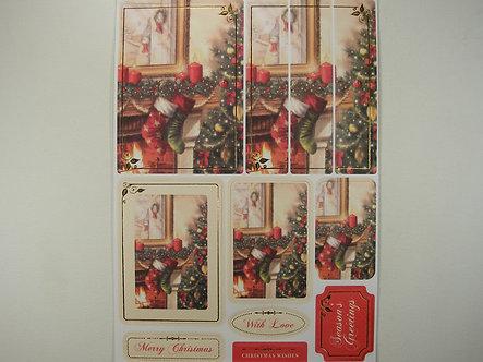 Kanban - Christmas Fireplace Topper Sheet