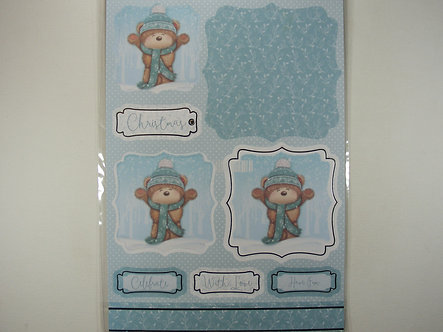 Kanban - Cute Bear In Snow Topper Sheet