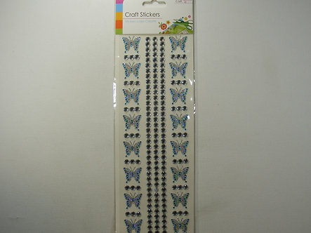 Craft - Butterfly Stickers (Blue)