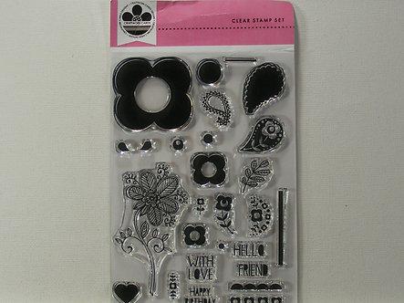 Craftwork Cards - Floral Stamp Duo Set