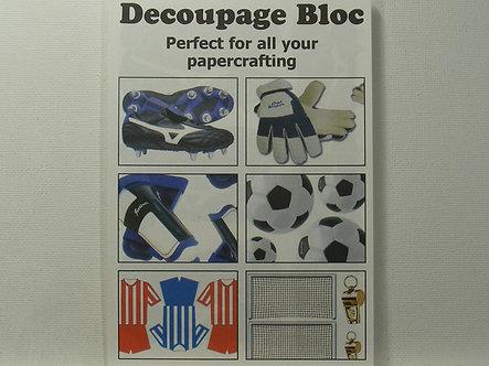 Arts & Crafts Direct - Decoupage Bloc - Football.