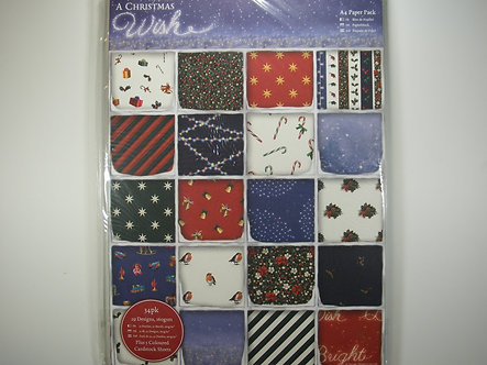 Docrafts - A Christmas Wish A4 Paper Pack.