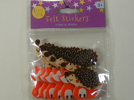 Craft Time - Felt Stickers Foxes & Hedgehogs