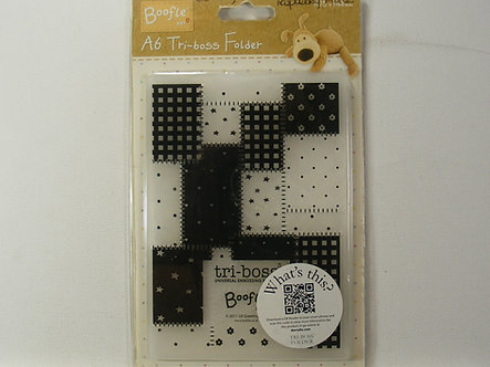 Boffle - Patchwork A6 Tri-Boss Folder