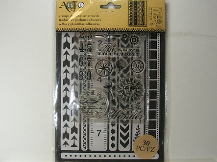Art-C - Stamps & Stencil Border Chevron