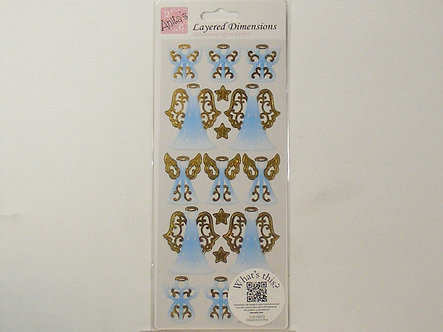 Anita's - Layered Dimensions Stickers - Angels.