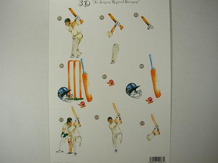 Craft UK - 3D Decoupage Cricket