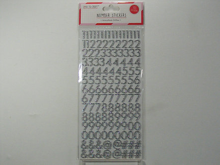 Love To Craft - Number Stickers (Silver).
