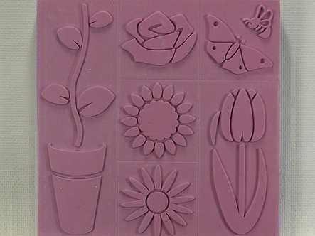 HMA Creative - Flowers Foam Mounted Stamp Set