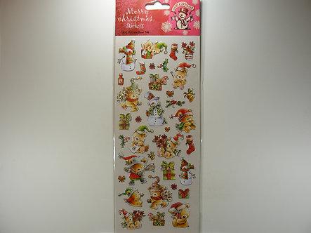 Merry Christmas Stickers - Cute Bear.