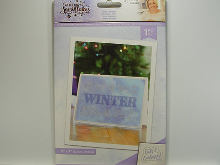 Crafters Companion - Glittering Snowflake Collection - Hello Winter Cut & Emboss