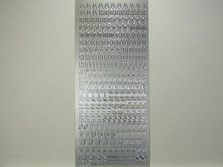 CraftCreations - Alphabet Peel Offs (Silver)