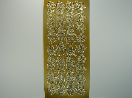 Christmas Peel Offs - Santa (Gold)