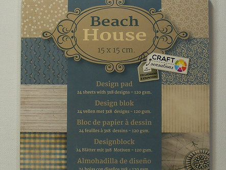 Craft Sensations - Beach House Paper Pad