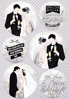 BuzzCraft - Special Couple Toppers & Bkg Card