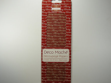 First Edition - Deco Mache Paper - Merry Christmas