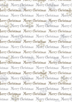 Paper Art - Merry Christmas Design Background Card (Gold & Sil)