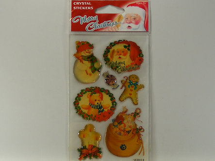Smile Kid - Merry Christmas Crystal Stickers
