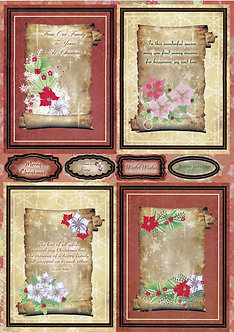 Art & Craft Direct - Poinsettia Scroll Toppers