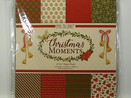 """Love To Craft - Christmas Moments 6"""" x 6"""" Paper Pad"""