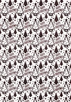 Christmas Designa - Red Christmas Tree Background Card
