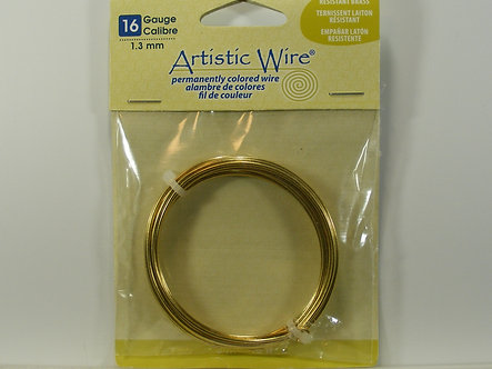 Beadalon - Artistic Wire - 16 Gauge Tarnish Resistant Brass