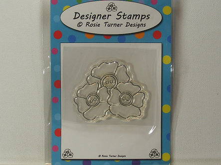 Rosie Turner - Pansies Trio Clear Stamp