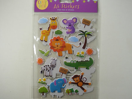 Craft Time - A5 Stickers Mixed Pack - Zoo