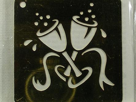 Rayher - Brass Embossing Stencil - Celebration Glasses