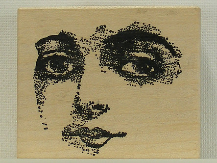 Rubbadubbadoo - Ladies Features Wood Mounted Rubber Stamp