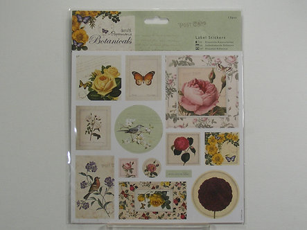 Docrafts Papermania - Botanical Label Stickers.