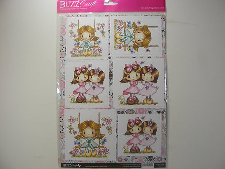 Buzz Craft - Friends In Bloom Toppers & Bkg