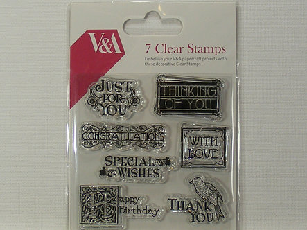 Victoria & Albert - 7 Clear Stamps