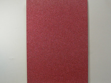 A4 Soft Touch Glitter Card - Deep Pink.
