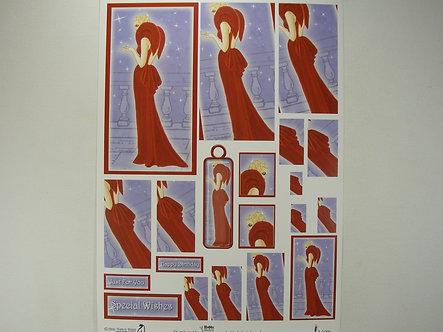 Hobby Habit Decoupage Sheet - Deco Lady.