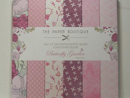 "Paper Boutique - Butterfly Garden 8"" x 8"""