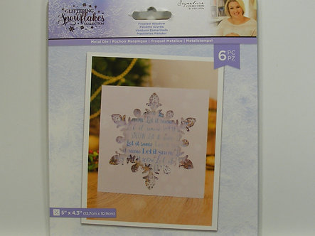 Crafters Companion - Glittering Snowflake Collection - Frosted Window Die