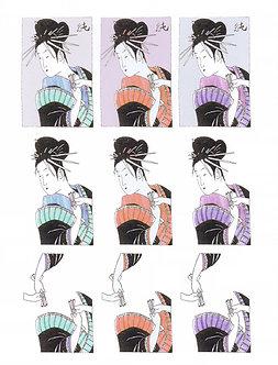 Oriental Crafts - Oriental Ladies Decoupage Sheet.