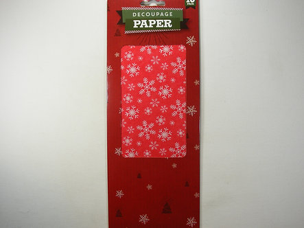Christmas Decoupage Papers - Snowflakes 10pk