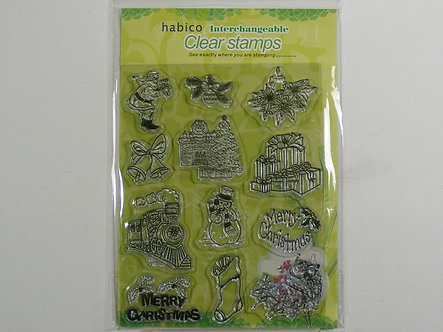 Habico - Large Christmas Clear Stamp Set.