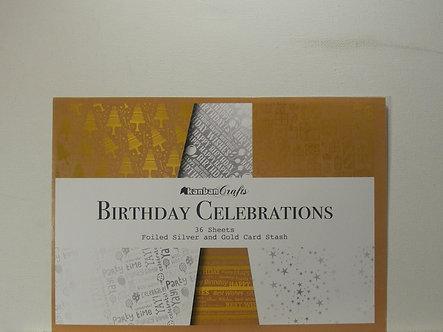 Kanban - Birthday Celebrations Foiled Card Stack
