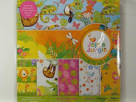 "Jojo's Jungle 8"" x 8"" Paper Pack"