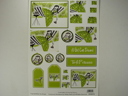 Hobby Habit Decoupage Sheet.