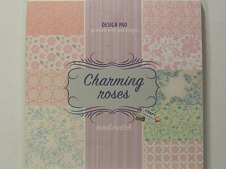 "Craft Sensations - Charming Roses 6"" x 6"" Paper Pad."